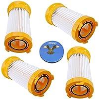 HQRP Filter 4-Pack for Eureka LightSpeed 100 300 4709AZ, PowerPlus 4704IDE, LightForce 300, PetPal 4716AVZ, HP5555 Series Bagless Dust Cup Vacuum Cleaner 4701AZ 4702A 4703A 4703B + HQRP Coaster