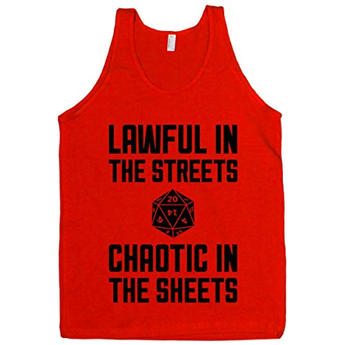HUMAN Lawful In The Streets, Chaotic In The Streets Red Medium T-Shirt