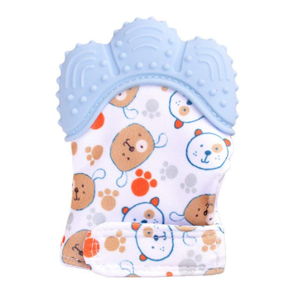 Willsa New Design Baby Silicone Mitts Teeth Mitten Molars Glove Wrapper