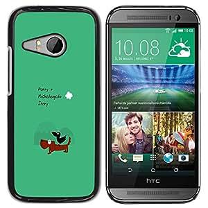 Esternocleidomastoideo HeartCase Chica duro plástico y aluminio + 2 x protectores de pantalla Carcasa para HTC ONE MINI 2/M8 MINI