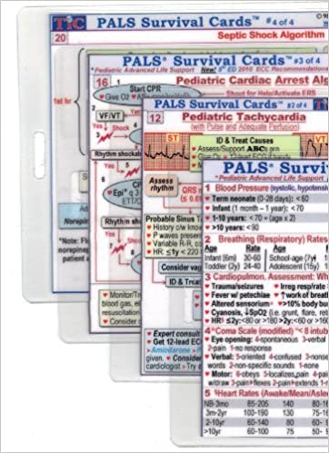 Pals Pediatric Advanced Life Support Survival Card Set Of 4 Large