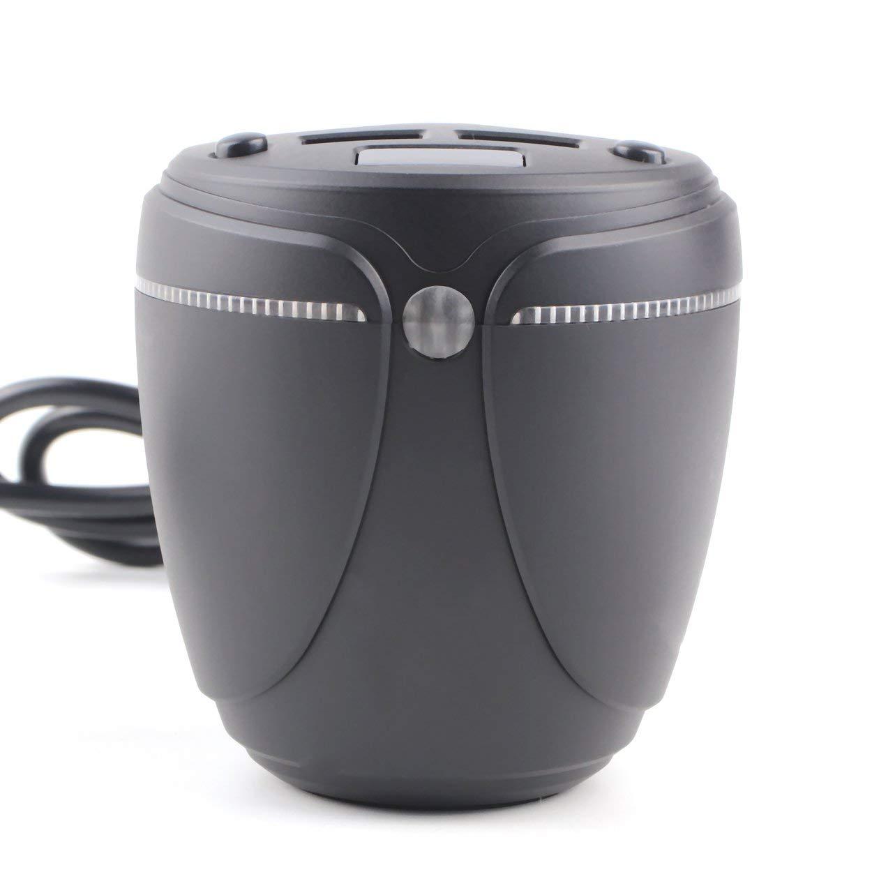Lorenlli Porte-gobelet Chargeur de Voiture Multifonctions avec é cran LED rougeoyant Dual USB Adaptateur Allume-Cigare pour té lé phone