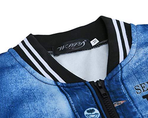 Baseball Gris Patchwork Veste Capuche Imprimer Uniforme Pull À 3d Nansiche Clair Zip Full Hommes Manches Longues Manteau 0qYZX