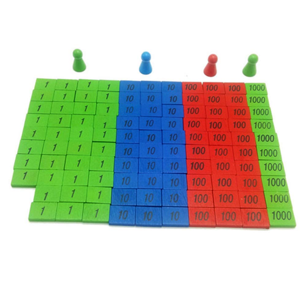 Everrikle Child Early Education Developing Toys Set Preschool Kids Math Number Teaching Aid,Classic Toy, Developmental Toy, Easy-to-Grip Shapes, Learning Toys for Toddlers
