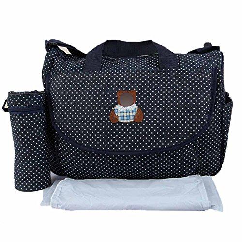 Generic 3pcs Bebé Bebé Pañales para pañales bolso cambiador momia bolso de maternidad gran capacidad hombro bolsa botella bolsa