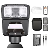 Neewer TTL GN42 HSS Slave Flash Speedlite Kit for Sony A7 A7S A7SII A7R A7RII A7II A6000 A6300 A6500 Cameras, Includes: (1)N40S Flash, (1)IR Remote Control, (1)USB Charger, (2)Batteries for Sony FW50