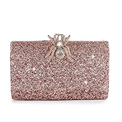 Luxury Flower beaded Acrylic Sequin Purse