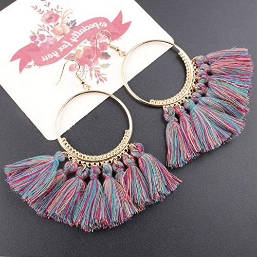Waldenn New Styles Women Ladies Girls Boho Long Earrings Party Holiday Fashion Jewellery | Model ERRNGS - 9585 |