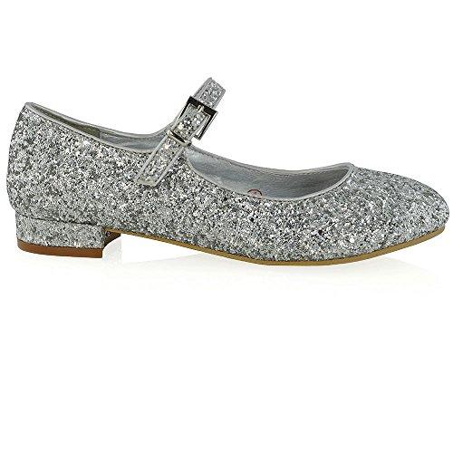 Décolleté Glitter Scintillante Décolleté Con Cinturino Alla Caviglia Glitterato Glitterato