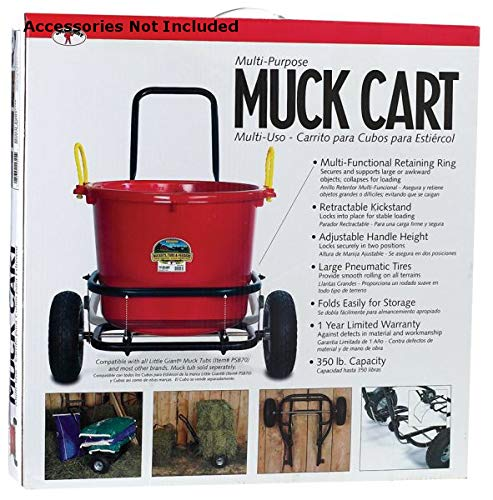 (Miller CA500A CO Muck Cart, Black)
