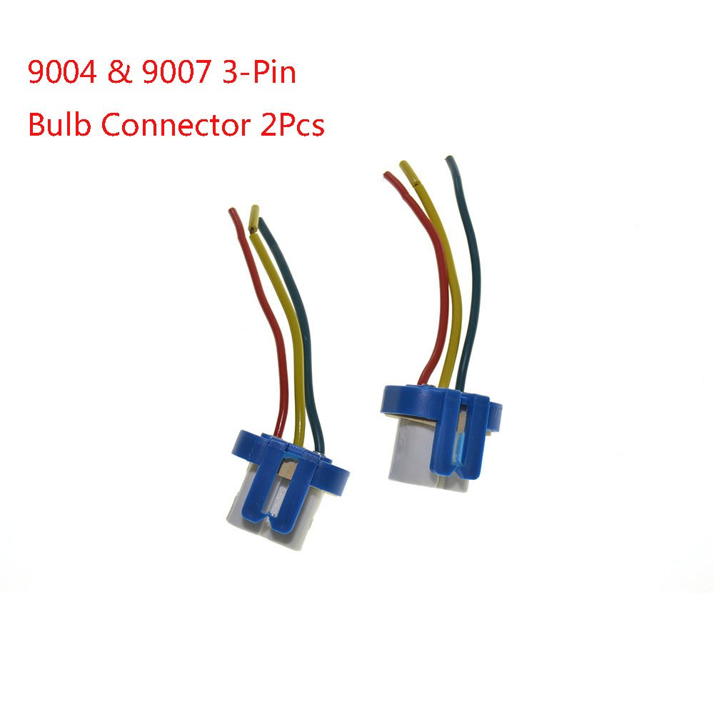 Guteauto 2pcs 9004 9007 Headlight Bulb Repair Harness Connector 3 Pin Wire Lead For Hb1 Hb5