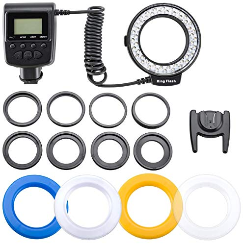 (Flashpoint Macro LED Ring Flash VL-48 Bundle with Adapters for 49, 52, 55, 58, 62, 67, 72, and 77mm Diameter Lenses.)