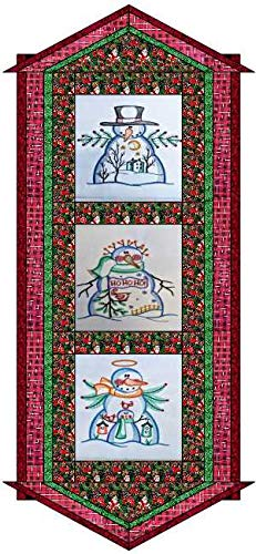 Quilt Kit/Country Christmas/Table Runner/Pre Cut Ready to Sew/Finished Embroidery by Material Maven