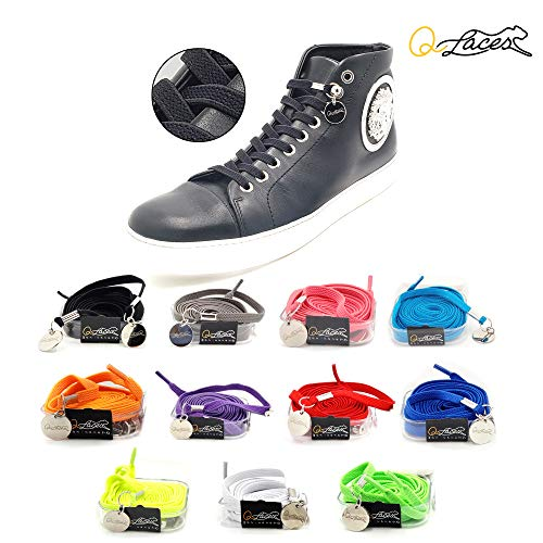 Qlaces No Tie Shoelaces - Nylon Elastic Shoelaces for Adults & Kids Fashion Shoes and Sneakers