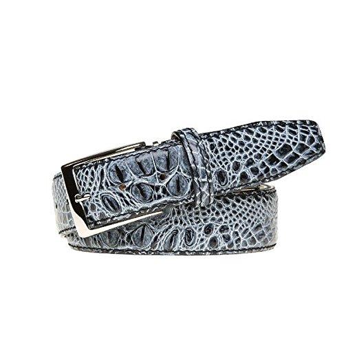 Shadow Italian Mock Croc Leather Belt by Roger Ximenez: Bespoke Maker of Fine Leather Goods