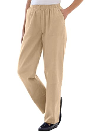 Women's Plus Size Tall Twill Pants at Amazon Women's Clothing store: