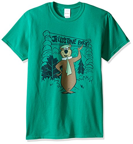 Yogi Bear Men's Jellystone Park Yogi T-Shirt, Kelly, 3XL