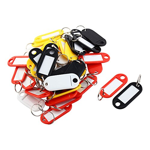 niceeshop(TM) Assorted Colors Key ID Tags Ring Keyring Keychain with Label Window