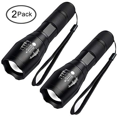 Tactical Flashlight - Viden LED Mini Flashlights Waterproof, Super Bright 2000Lumen, 5 Light Modes,  For Sporting, Camping, Outdoor, Hiking [2 PACK]
