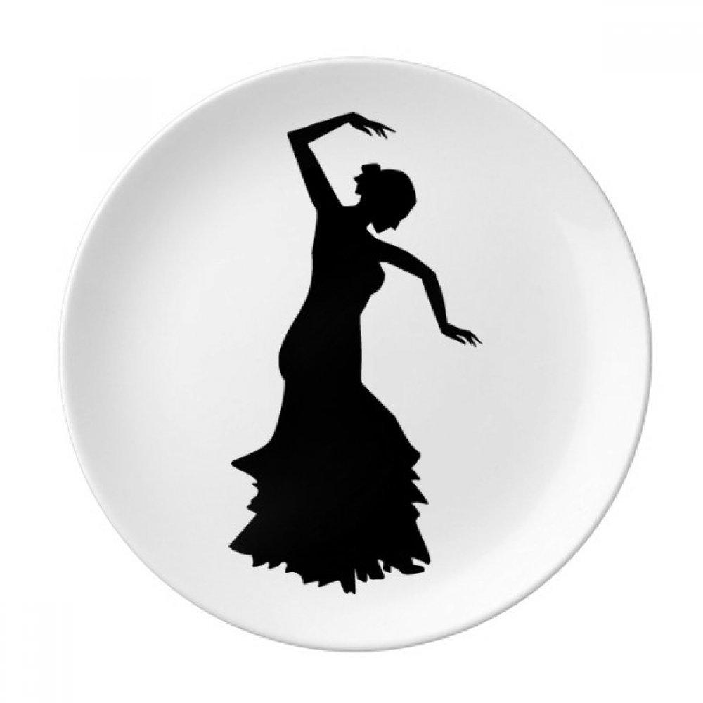 Performance Dancer Folk Dance Dessert Plate Decorative Porcelain 8 inch Dinner Home