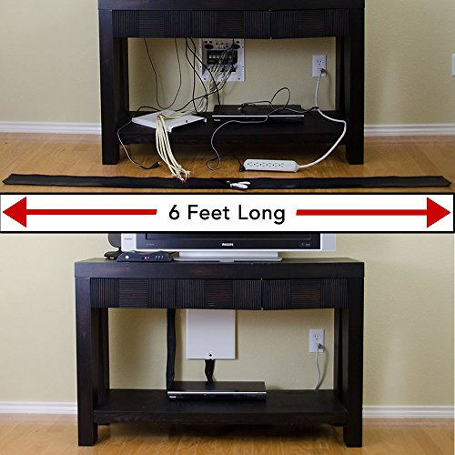 Melca Cable Management Cord Organizer 6 Foot Long Velcro