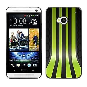 TopCaseStore / la caja del caucho duro de la cubierta de protección de la piel - Green Lines - HTC One M7