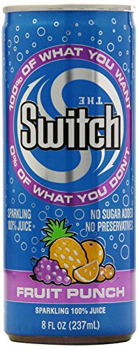 The Switch Sparkling Juice, Fruit Punch, 8- Fl. Oz Cans (Pack of 24)