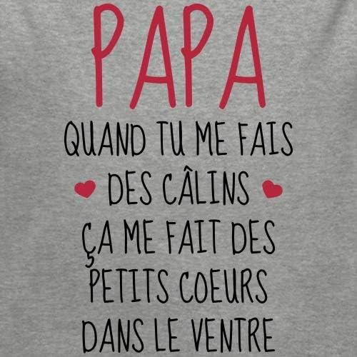 Papa Quand Tu Me Fais des C/âlins Body B/éb/é Bio Manches Longues
