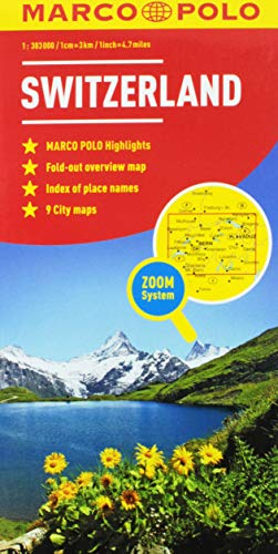 Switzerland Marco Polo Map (Marco Polo Maps)