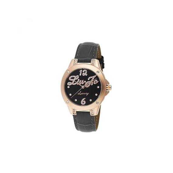 Reloj mujer solo tiempo colección Paris Rose Gris con correa de piel gris
