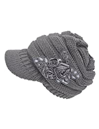 ArRord Women Winter Warm Flower Hat