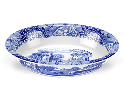 Spode Blue Italian Oval Rimmed Dish by Spode