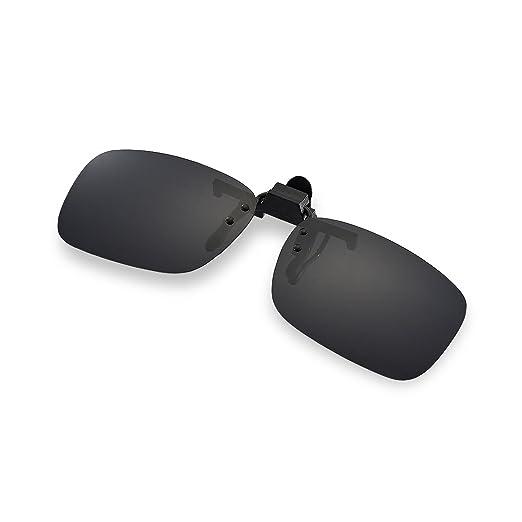 384d7a5b2a Walleva Clip-on Flip-up Sunglasses Lenses - Multiple Options Available  (Black -