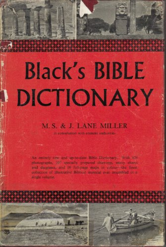Book cover from Blacks Bible Dictionary by Madeline S. Miller