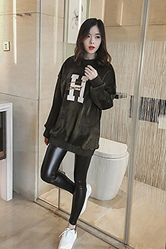 New winter gold velvet letter sweater wide prednisone plus thick velvet leggings female black two-piece suit fashion for women girl