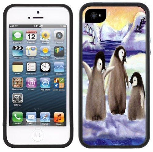Niedliche Penguins | Handgefertigt | iPhone 5 5s | Schwarze Hülle