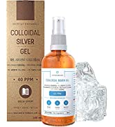 Pure Colloidal Silver Gel 40 PPM • 100% Natural and only 3 Ingredients • Optimal Texture and Abso...