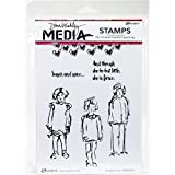 Ranger Dina Wakley Media Cling Stamps Scribbly Girlies (4 Pack)