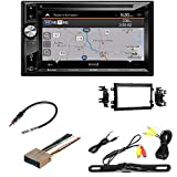 Jensen VX7023 A/V Receiver w/DVD | Built-in NAV | Built-in Bluetooth with Dash kit Fits Ford F-150 2004-2006 Double DIN Stereo Harness Radio Install Dash Kit/License Plate Rear View Camera