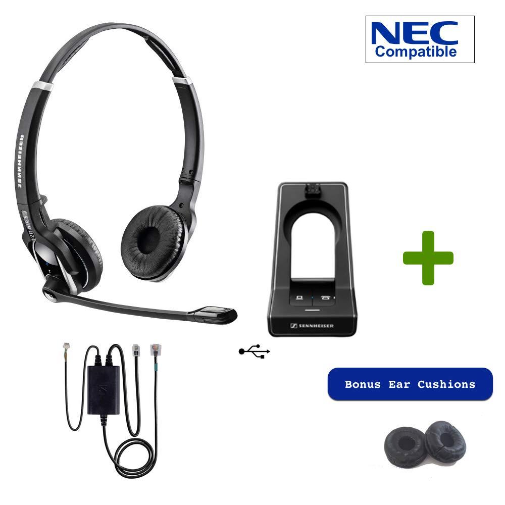 Sennheiser SD PRO2 - Deskphone Cordless Headset with NEC EHS Adapter | Compatible Phones: DT7xx (std. SIP)