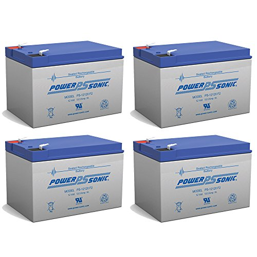Xtreme Xb 500 Electric Scooter (Powersonic 12V 12AH Battery Replaces X-Treme XB-500 Electric Bicycle - 4 Pack)