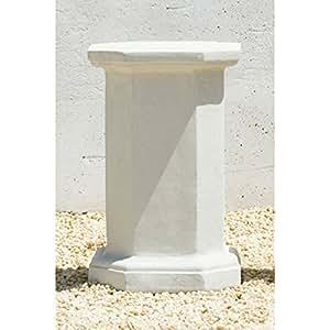 Campania International Medium Octagonal Cast Stone Pedestal For Urns and Statues Greystone - PD-148-