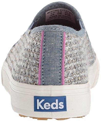 Keds Dames Dubbeldekker Sequin Knit Fashion Sneaker Grijs