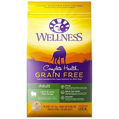 Wellness Complete Health Natural Grain Free Dry Dog Food, Lamb, 4-Pound Bag