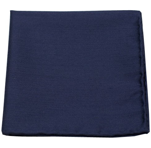 The Tie Bar Astute Solid Wool Blend Navy Pocket Square