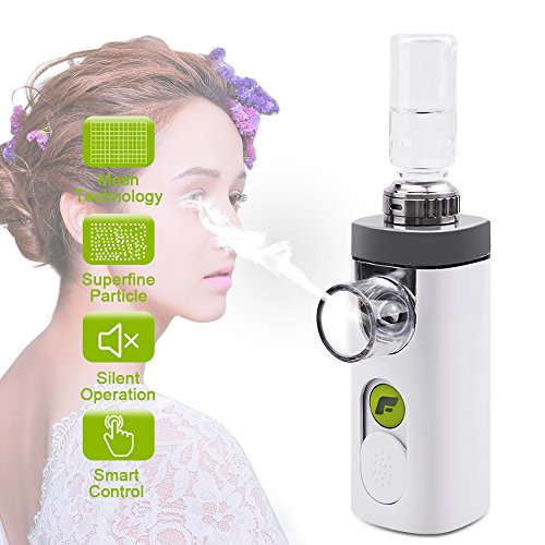 Eye Steamer Portable Steam Inhaler Handy Mesh Mist Spray Atomization USB Rechargeable Humidifier for Dry Eye VXDAS Air (Plus Nebulizer)