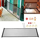 Magic Gate for Dogs, LENKA Magic Dog Gate – Portable Folding Mesh Screen Gate Dog Safe Guard for Indoor Use For Sale