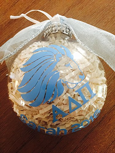 Alpha Delta Pi Christmas Ornament, Alpha Delta Pi, Sorority Ornament, greek letter ornament, personalized ornament, christmas gift