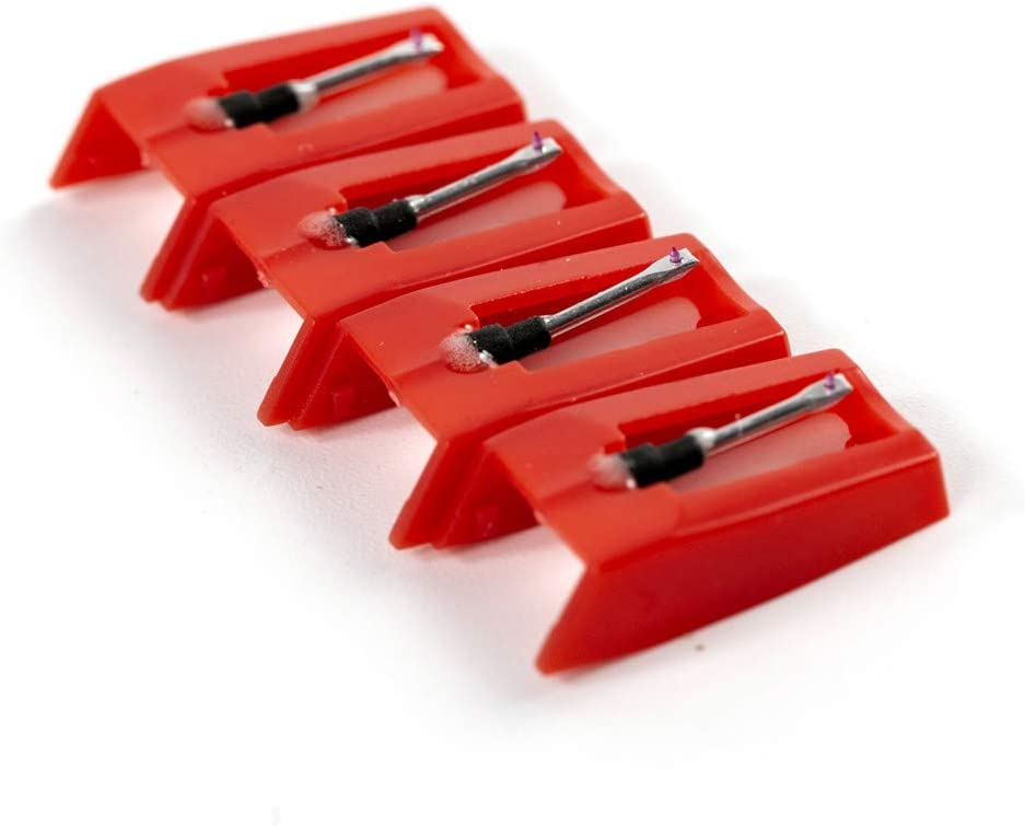 Phonograph CUSTEAM Phono Turnable Cartridge Replacement Stylus Needles with Carry Box for Vinyl Crosley LP Pack of 3 Record Player Needle
