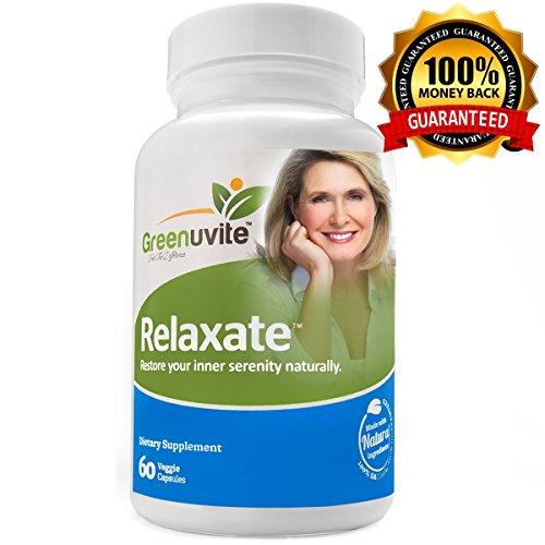 Relaxate Angstlinderung und stimmungsaufheller - 100 % natürliches beruhigungsmittel gegen Stress & Angst - 60 vegetarische Kapseln - Ihr bestes pflanzliches Ergänzungsmittel bei Panikattacken und Depression. Beruhigendes und entspannendes Ergänzungsmittel. erstklassig schlafoptimierer
